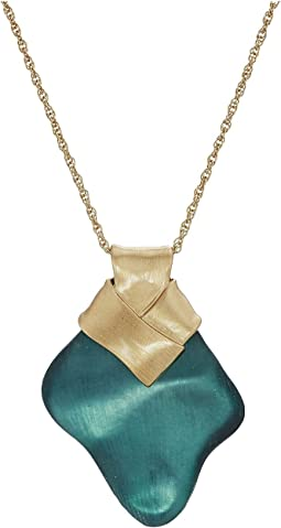 Alexis Bittar Folded Metal Knot Pendant Necklace