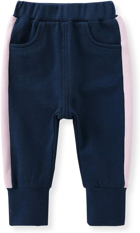 pureborn Unisex Toddler Baby Boys Girls Cotton Pull-on Jogger Pants