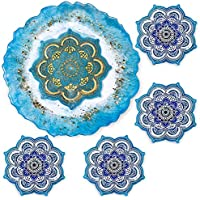 5-Piece Isseve Round Large Geode Resin Tray Molds