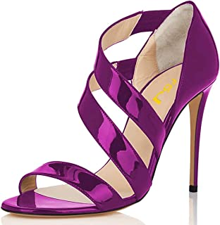 Regular Party Thick Sandals N.Y.L.A Womens Platform with High Heels Open Toe Sandals Color : Red, Size : 36