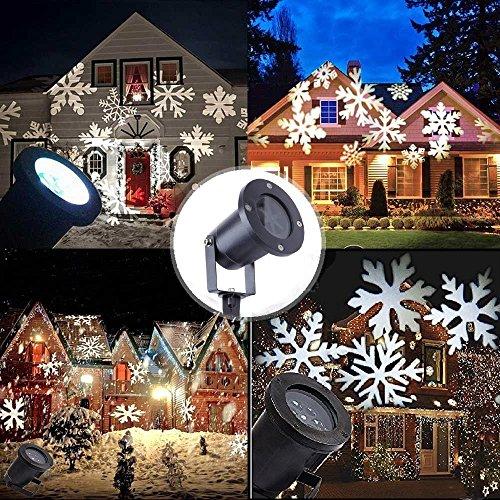 LED Weihnachtsprojektor Schneeflocke Projektor Lichter Weihnachten Projektionslampe Gartenleuchte Lichteffekt Außen Weihnachtsbeleuchtung für Festival-Dekoration Geburtstag Hochzeit Party