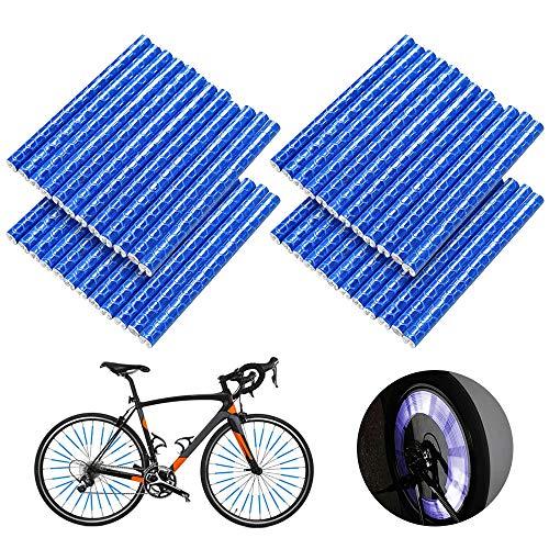 Esteopt Juego de 48 reflectores para radios de bicicleta