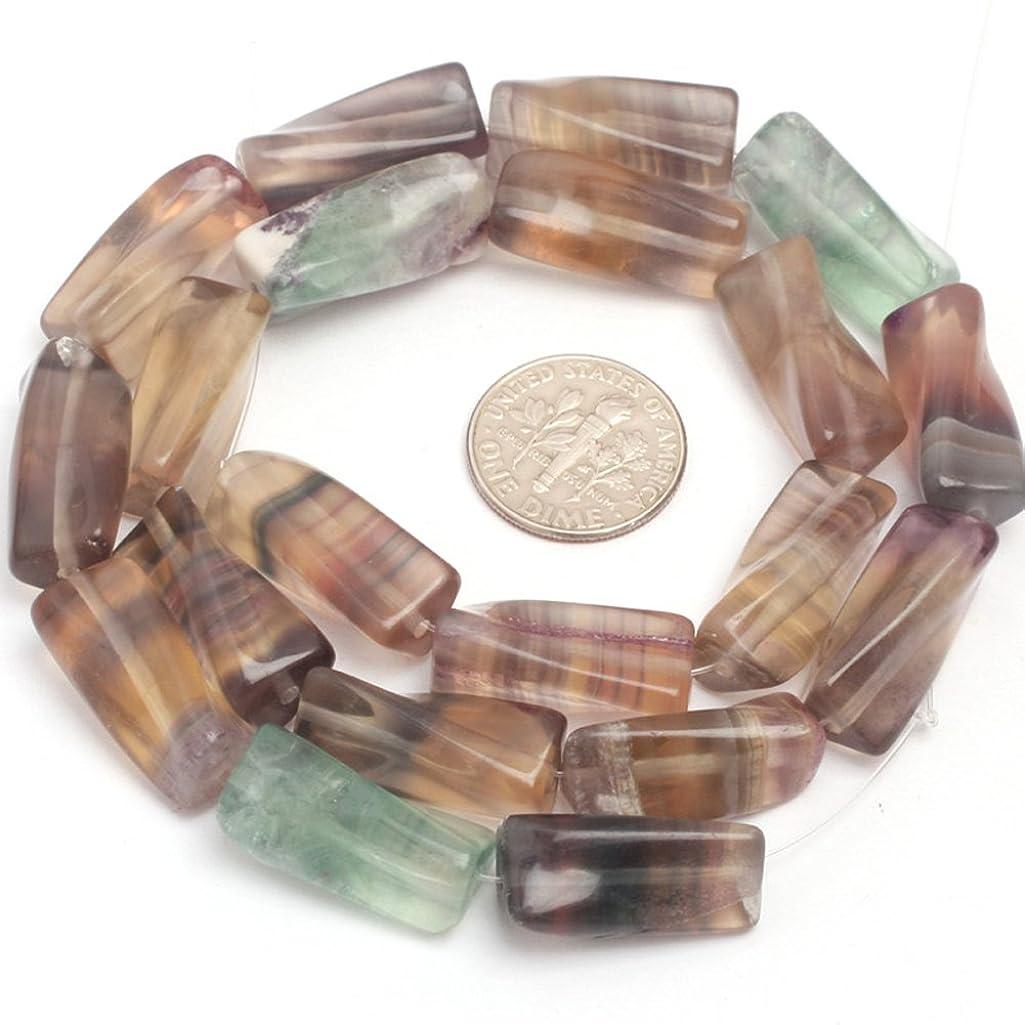 Fluorite Beads for Jewelry Making Natural Gemstone Semi Precious 9x20mm Twist Column 15