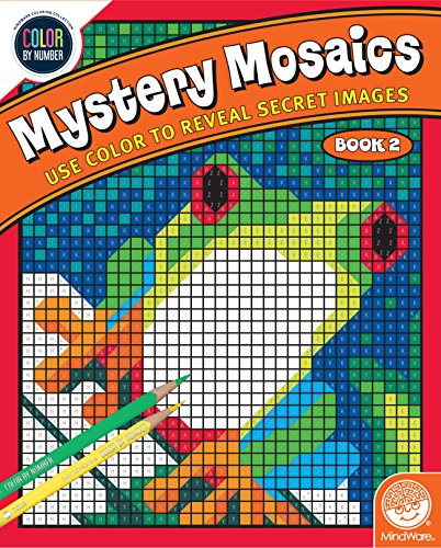 MindWare Color by Number Mystery Mosaics: (Book 2), Multi...