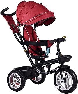 GYF Trikes, Cochecitos De Bicicleta De Bebé para Niños Smart Trike Walker para Niños Silla para Niños Triciclo Guiado para Niños Verde Rojo