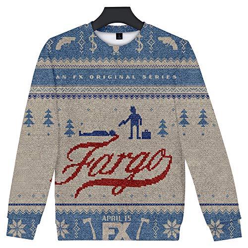 De.Pommeyeux Fargo Sweatshirt Streetwear TV Show 3D Druck Sweatshirt Pullover Mode 2020 Trainingsanzug Gr. L, K09472