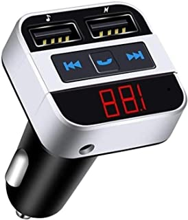 $127 » WYYHYPY Bluetooth FM Transmitter, Bluetooth 5.0/QC3.0 Type C Charge Car MP3 Player Wireless Radio Audio Adapter, Dual USB ...