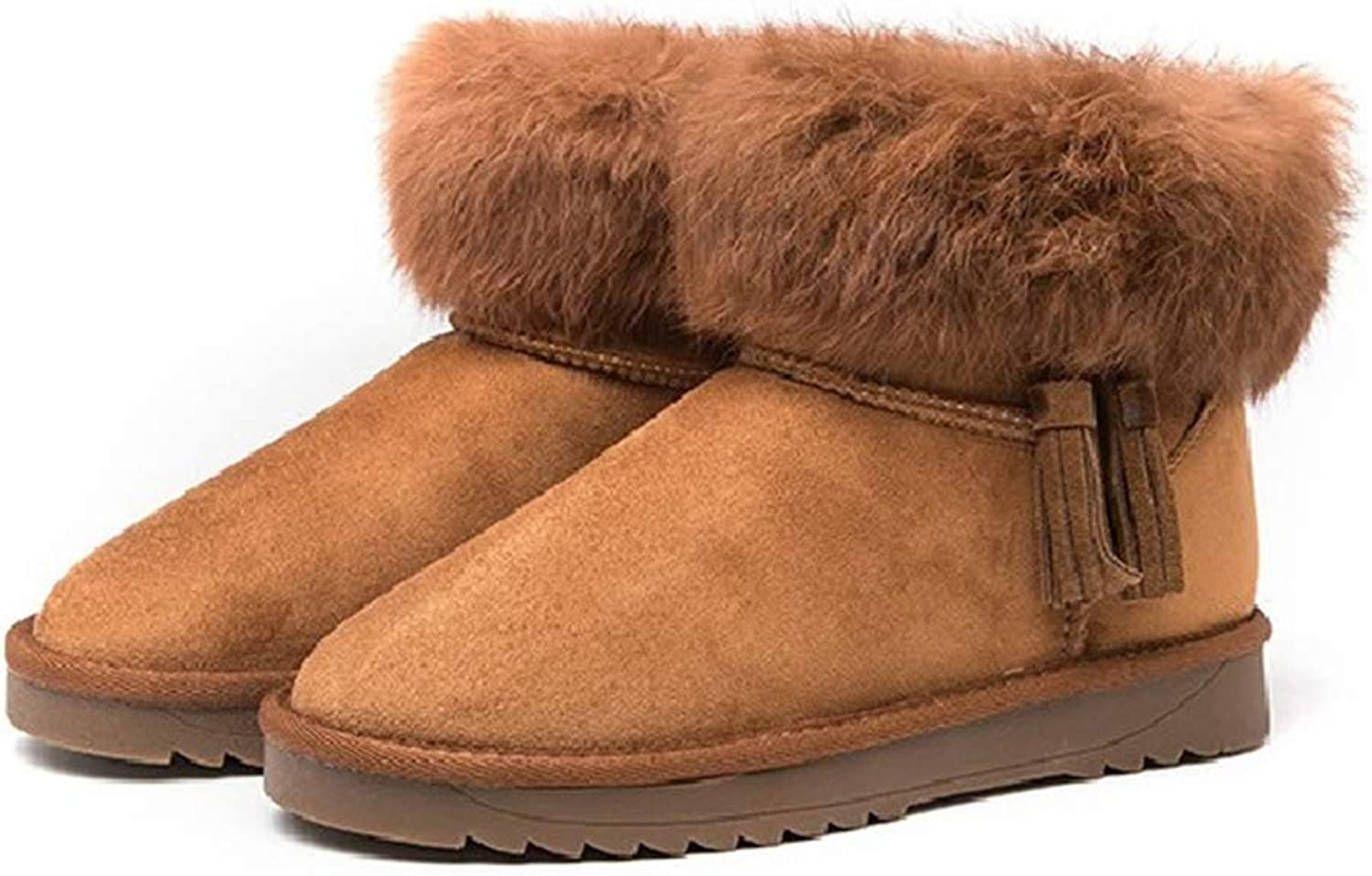 Kyle Walsh Pa Women Snow Boots Warm Fur Tassel Soft Comfortable Ankle Booties Female Winter Flats shoes