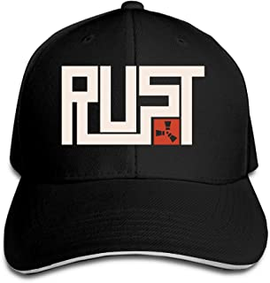 MARC Custom Rust Adult Baseball Cap Hat Black