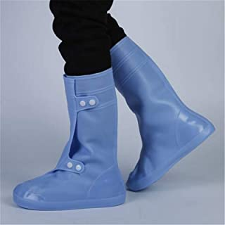 CZF Chaussures de Pluie PVC Couvrent Hommes Femmes Hiver Bottes de Neige imperméables épaisses antidérapant résistant à l'...