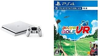 PlayStation 4 グレイシャー・ホワイト 500GB + 【PS4】みんなのGOLF VR(VR専用) セット