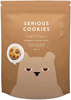 Serious Foods Cookies Chewy Chocolate Chip, Dark Chocolate, 170 g