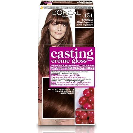LOréal Paris Casting Crème Gloss 454 Brownie Mahonie coloración del cabello Marrón - Coloración del cabello (Marrón, Brownie Mahonie, Bélgica, 73 mm, ...