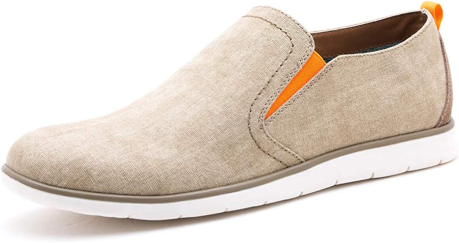 GOLAIMAN Size7-13 Casual shoes for Men Slip on Mens Canvas shoes Loafers Driving Walking shoes Fashion Sneaker