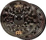 "Meinl Cymbals 16"" Hihat (Hi Hat) Cymbal Pair - Classics Custom Dark - MADE IN GERMANY, 2-YEAR WARRANTY (CC16DAH)"