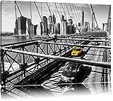 Gelbes Taxi in New York auf Brücke Format: 120x80 auf