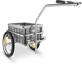 DURAMAXX Bigbig - Remolque para bicicletas (remolque de acoplamiento, caja de transporte de 40