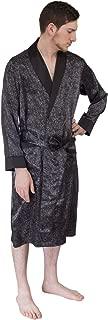 Le Ferre International Mens Classic Premium Long Lightweight Paisley Satin Robe
