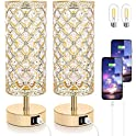Set of 2 Tobusa Touch Control Crystal Table Lamp