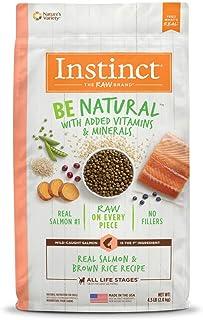 Instinct 6175289 Be Natural Real Salmon & Brown Rice Recipe Dry Dog Food, 4.5lb