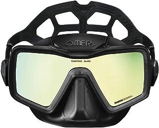 Omer Apnea Mask - Single-Lens Low Volume Dive Mask - Scuba Mask - Diving Mask Freediving Mask Dive Mask - Freedive Mask - Spearfishing Mask - Low Volume Freediving Mask