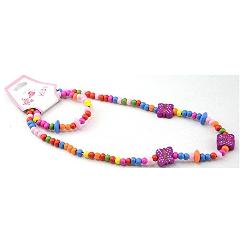 Jewellery & Watches Good Coloured Wooden Butterfly And Bead Necklace And Bracelet Set Clients First