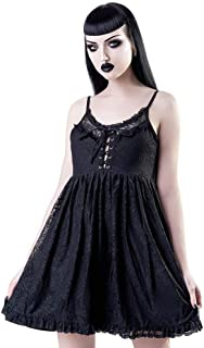 Vixxsin Vintage Gothic Sommerkleid Chiffon Minikleid Cocktail Kleid Dead Moon
