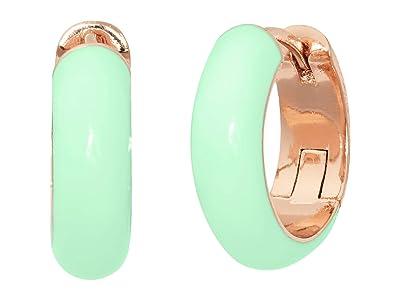 Kate Spade New York Candy Drops Enamel Huggies Earrings (Mint) Earring