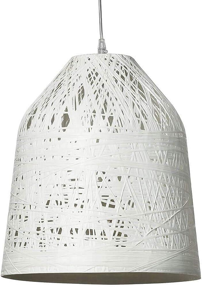 Karman black out, lampada a sospensione Ø50 cm, con paralume in vetroresina bianco SE1012B INT