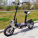Scooter eléctrico, 1000 W, color negro
