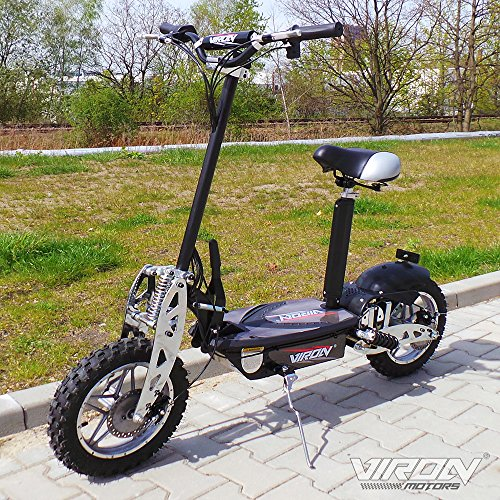 Scooter eléctrico, 1000 W, color negro