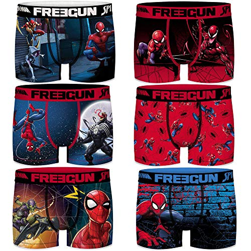 FREEGUN Boxershorts Jungen Ultimate Spider Man (12/14 Jahre, Ultimate Pack of 6)