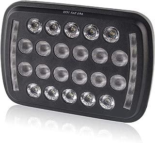 7x6 Led Headlights Square Lights 5x7 Inch BraveWAY Ultra-thin High/Low Beam- Sealed Beam Rectangular Headlight Led Headlights 1PC for H6052 H6053 H6054 H6014 (1003H-1pcs) (1003H-1pcs)