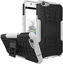 Ikwcase OPPO F1s Case, Heavy Duty Armor Tough Hybrid Shockproof Dual Layer Kickstand Protective Case Cover for OPPO A59 / OPPO F1s White