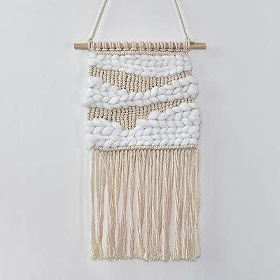 Hecha a mano natural algodón lana con lana gruesa. Colgante de ...