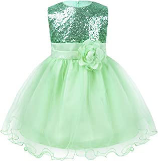 a78162bc3f7b3 iiniim Baby Girls Sequins Formal Wedding Pageant Birthday Tutu Princess  Party Flower Girl Dress