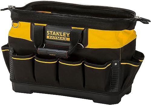Stanley 1-93-950 Sac À Outils Gamme Fatmax - Base Rigide et Résistante À l'Eau avec Bandoulière Solide - Poignée Caou...