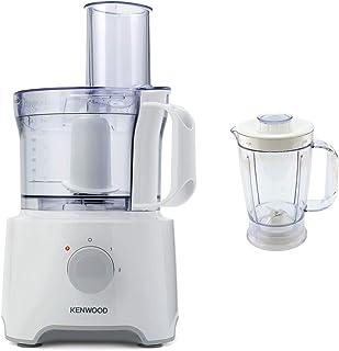 Kenwood MultiPro Compact 800W 1.2L Blanco - Robot de cocina (1,2 L, Blanco, De plástico, Acero inoxidable, 800 W, 200 mm)