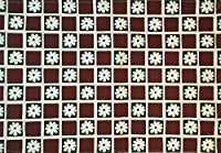 Manual Woodworkers Burgundy Daisy Checkerboard Stenciled 100% Cotton Kitchen Table Placemats 13x19 Set of 4 Green [並行輸入品]