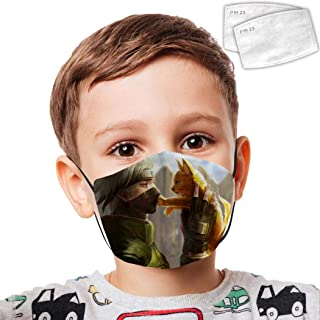Na-ru-to Dusk Face Mouth Adjustable Double Layer Reusable Dust Coverfor Kids Teens
