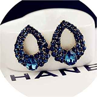 Brand Natural Blue Zircon Earrings Water Drop Earring for Women Accessories One Direction-in Drop Earrings from Jewelry & Accessories
