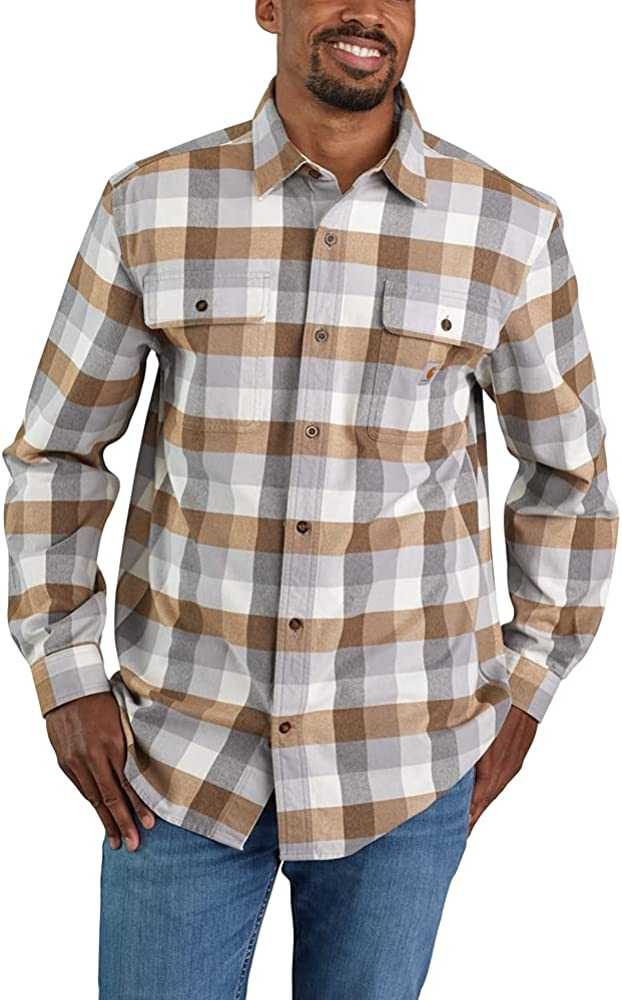 Super popular specialty store excellence Carhartt Men's Loose Fit Heavyweight S Long Flannel Sleeve Plaid