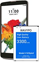 LG Stylo 2 plus Battery, Wavypo 3300mAh Replacement Battery Li-ion for LG V10 BL-45B1F H960A, H900, H901, VS990, LS992, Stylo 2 Plus MS550 K550 LS775 LTE Spare Battery [24 Month Warranty]