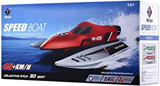 Wltoys Speed Boat Remote Control High Speed 45Km/h - 2.4Ghz - RC Boat - RED Color