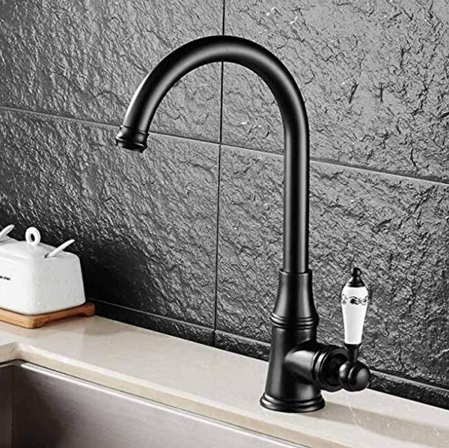 Mkkwp Kitchen Faucets Single Lever Faucet 360 redate Deck Mounted Kitchen Faucet Torneira Single Holder Single Hole Mixers Taps