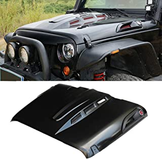 MAIKER The Avenger Style Replacement Hood Heat Dispersion Fits for 2007-2017 Jeep Wrangler JK JKU Unlimited Rubicon, Black