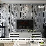 10 mètres 3D Papier Peint Moderne Minimaliste Non Tissé Flocage pour Décoration Mur Maison Boutique Chambre Salon (Gris argenté)