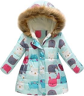 Baby Girls Hooded Snowsuit Winter Warm Light Fur Collar Hooded Down Windproof Jacket Outerwear
