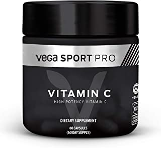 Sponsored Ad - Vega Sport Pro Supplements, Vitamin C (60 Capsules) - NSF Certified, Certified Vegan, Gluten Free Pills