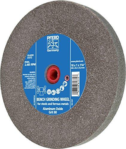 PFERD 61772 Bench Grinding Wheel, Aluminum Oxide, 10